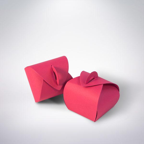 Krabička na makarónky ružová 50x50x50