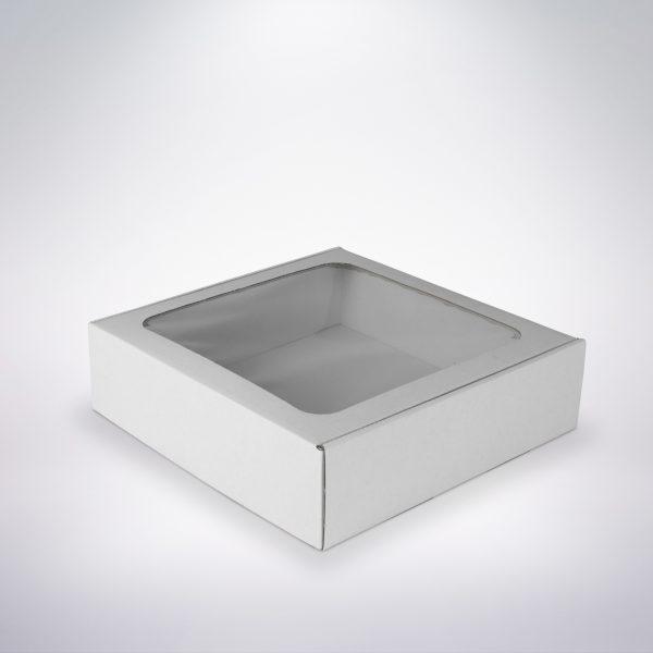 Krabička s okienkom 250x250x70 biela