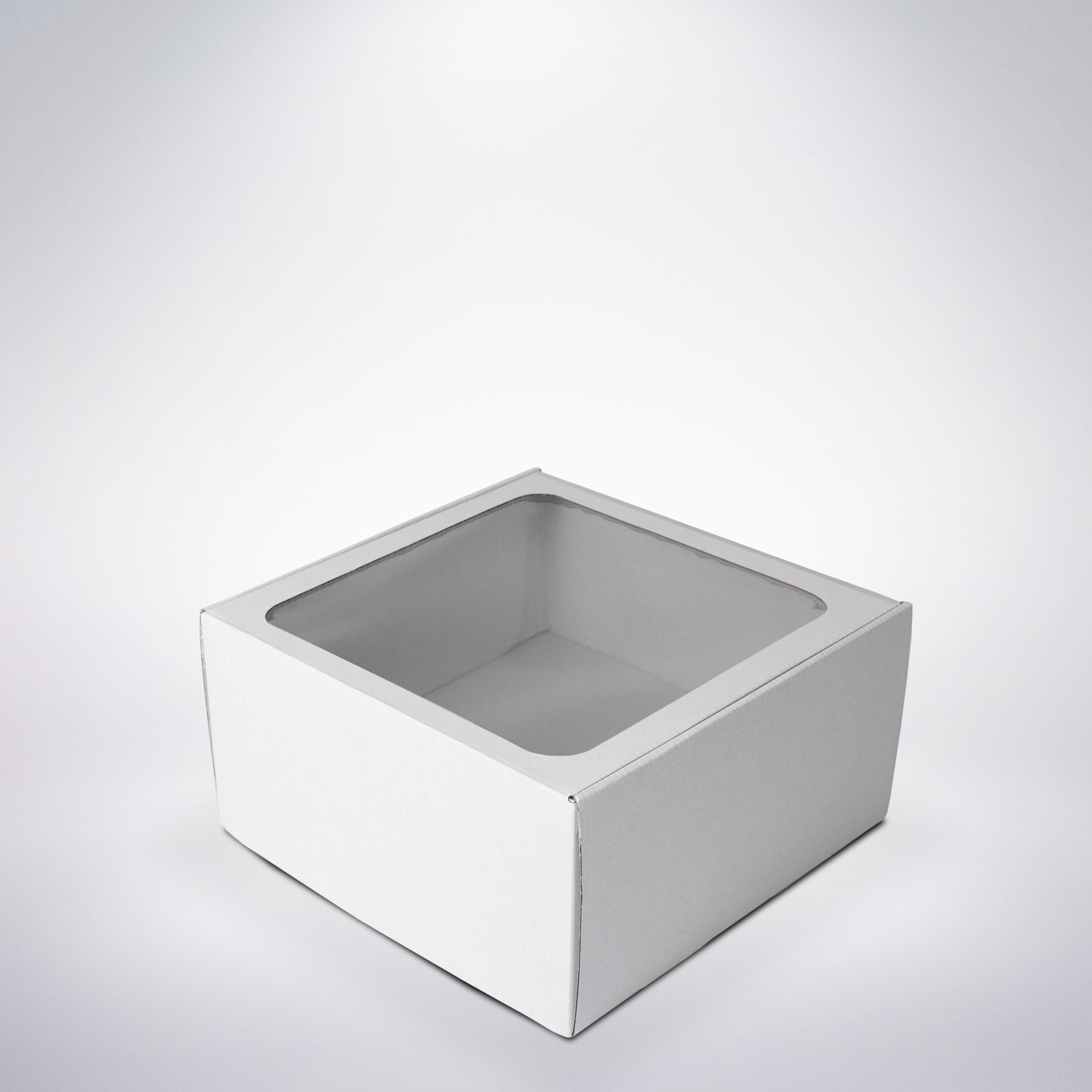 Krabička s okienkom 250x250x130 biela