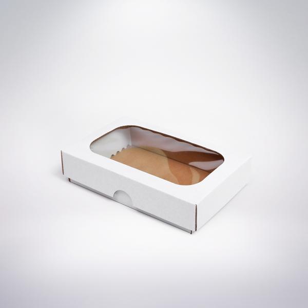 Krabička s okienkom 150x100x35 biela