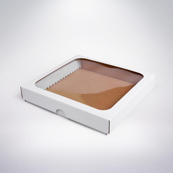 Krabička s okienkom 200x200x35 biela