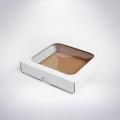Krabička s okienkom 150x150x35 biela