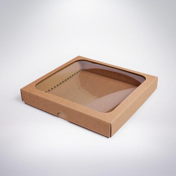 Krabička s okienkom 200x200x35